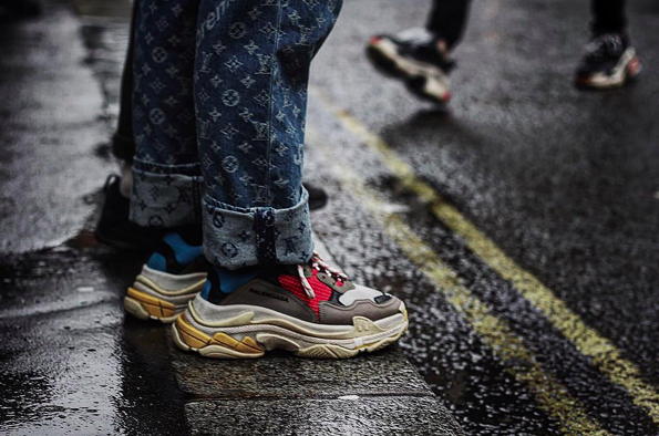 Balenciaga Triple S, Supreme x Louis Vuitton Denim. Worn by @ifayfu.